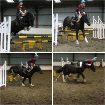 If in doubt, ten ten trillion strides out... land on the jump & bugger off. Stayed on somehow haha.